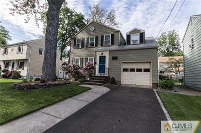 RAHWAY Single Family Home For Sale: 457 Orchard Street