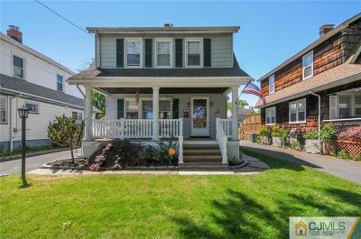 RAHWAY Single Family Home For Sale: 478 Sycamore Street