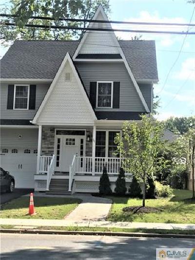 Metuchen Single Family Home For Sale: 133 Woodbridge Avenue