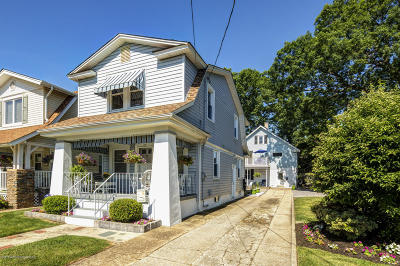 Bradley Beach Single Family Home For Sale: 605 1/2 Fletcher Lake Avenue