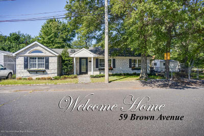 Hazlet Single Family Home Under Contract: 59 Brown Avenue