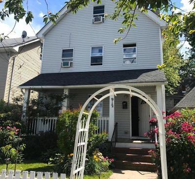 Asbury Park Single Family Home For Sale: 912 Monroe Avenue