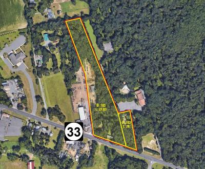 Freehold Residential Lots & Land Under Contract: 1009 Route 33