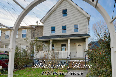 Asbury Park Single Family Home For Sale: 912 Monroe Avenue