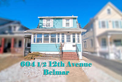 Belmar Single Family Home Under Contract: 604 1/2 12th Avenue