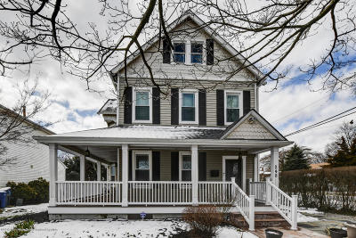 Long Branch, Monmouth Beach, Oceanport Single Family Home For Sale: 248 Liberty Street