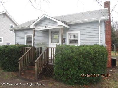 New Egypt NJ Single Family Home For Sale: $69,900