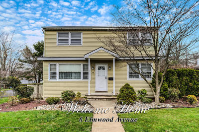 West Long Branch Single Family Home Under Contract: 6 Elmwood Avenue