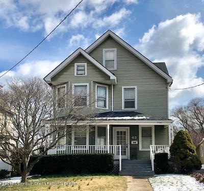 Long Branch Single Family Home For Sale: 43 Washington Street