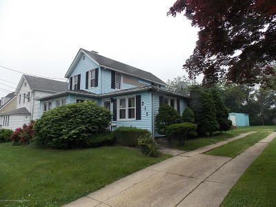 Long Branch Single Family Home For Sale: 215 Coleman Avenue