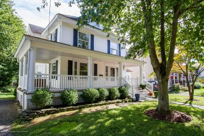 Red Bank Single Family Home For Sale: 17 E Bergen Place
