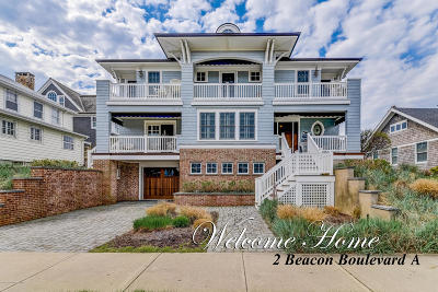 Sea Girt Single Family Home For Sale: 2 Beacon Boulevard #A