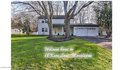 Manalapan Single Family Home For Sale: 18 Knox Lane