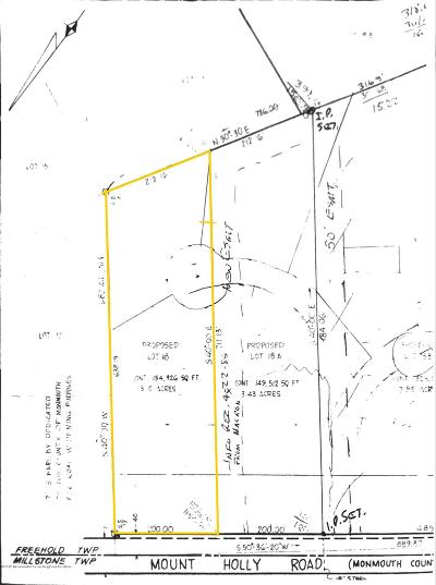Freehold Residential Lots & Land For Sale: 381 Monmouth Road
