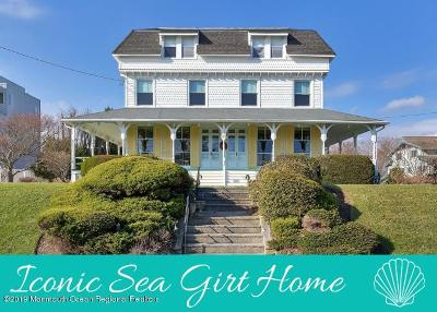 Sea Girt Single Family Home For Sale: 100 The Terrace