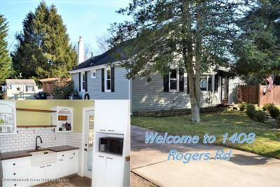 Wall Single Family Home Under Contract: 1408 Rogers Road