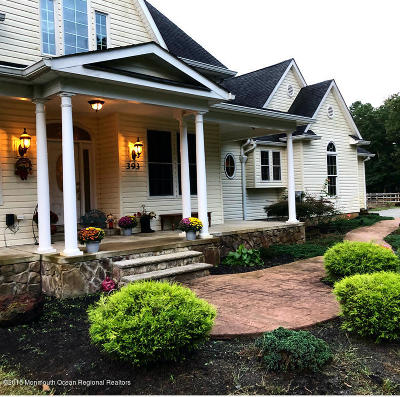 Freehold Single Family Home For Sale: 393 Monmouth Road