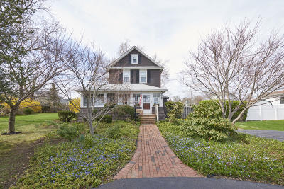 Long Branch, Monmouth Beach, Oceanport Single Family Home Under Contract: 37 Morris Place