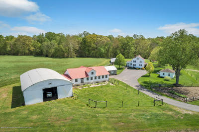 Monmouth County Farm For Sale: 814 Monmouth Road