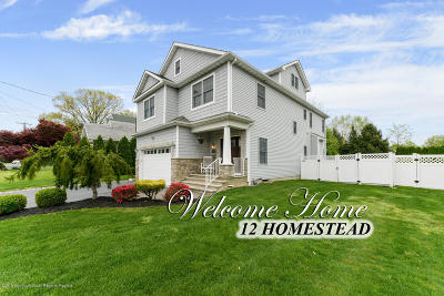 West Long Branch Single Family Home Under Contract: 12 Homestead Avenue