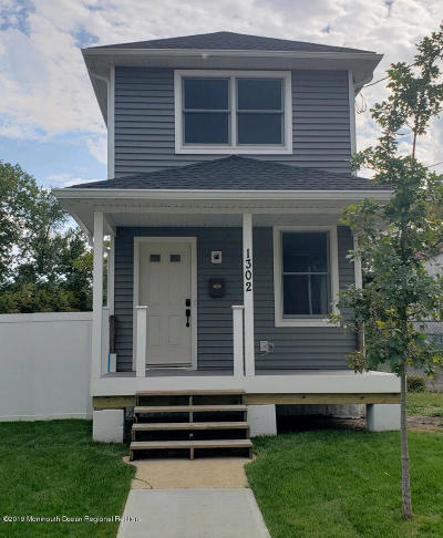 Asbury Park Single Family Home For Sale: 1302 Washington Avenue
