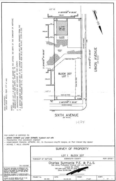 Neptune Township Residential Lots & Land For Sale: 1428 6th Avenue