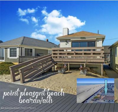 Point Pleasant Beach Single Family Home For Sale: 111 Boardwalk #Ocean Fr