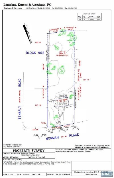 Tenafly Residential Lots & Land For Sale: 12 Norman Place