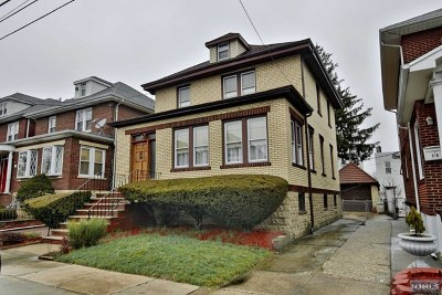 North Bergen Single Family Home For Sale: 600 80th Street