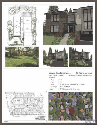 Englewood Cliffs Residential Lots & Land For Sale: 33 Roslyn Avenue
