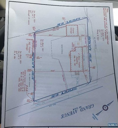 Leonia Residential Lots & Land For Sale: 196 Grand Avenue
