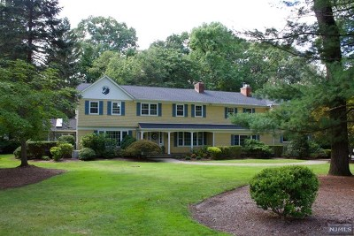 Franklin Lakes Single Family Home For Sale: 286 Gregory Road