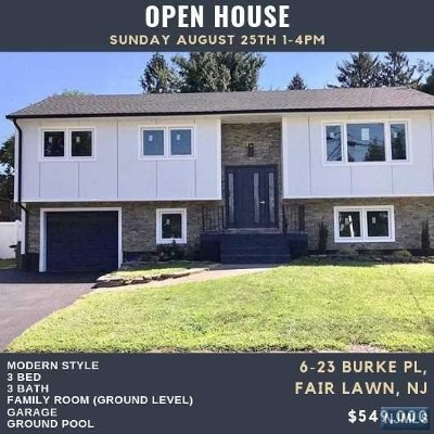 Fair Lawn Single Family Home For Sale: 6-23 Burke Place