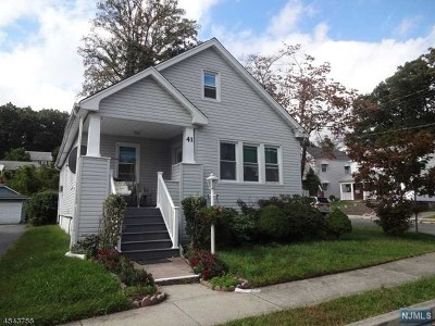 Passaic County Single Family Home Under Contract: 41 Coolidge Place