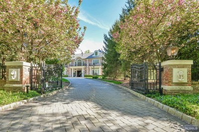 Saddle River NJ Single Family Home Under Contract: $5,999,999