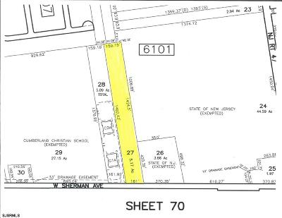 Vineland Residential Lots & Land For Sale: 964 W Sherman