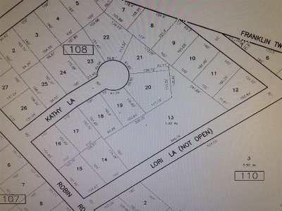 Vineland Residential Lots & Land For Sale: 4610 Bernard Road