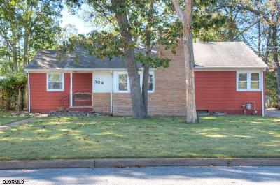 Millville Single Family Home For Sale: 304 N 11th Street