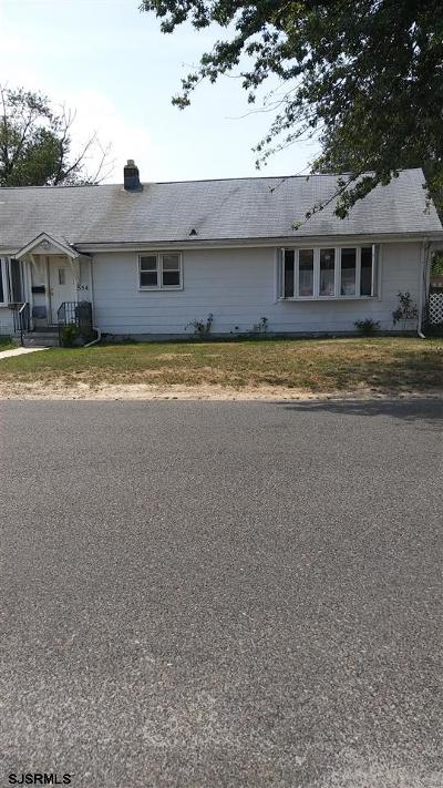 Vineland Single Family Home For Sale: 554 N 2nd St Street