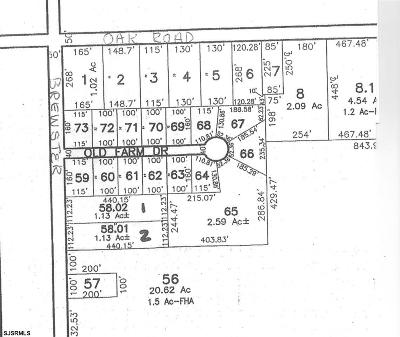 Vineland Residential Lots & Land For Sale: 859 N Brewster Road