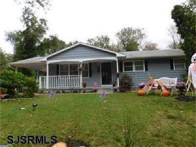 Vineland Single Family Home For Sale: 2449 Brookhaven Dr