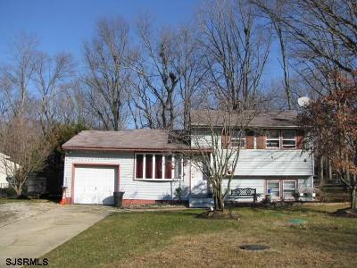 Vineland Single Family Home For Sale: 4645 Robin Road Road