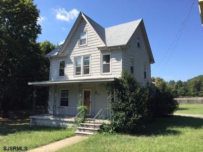 Vineland Single Family Home Back On Market: 3816 N Delsea Hwy