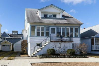 Margate NJ Single Family Home For Sale: $599,000