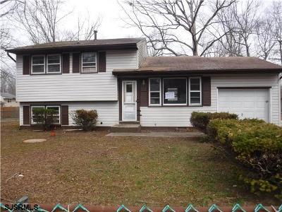 Newfield NJ Single Family Home For Sale: $66,000