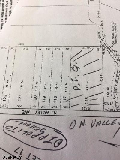 Vineland Residential Lots & Land For Sale: N Valley Ave