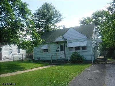 Vineland NJ Single Family Home For Sale: $64,000