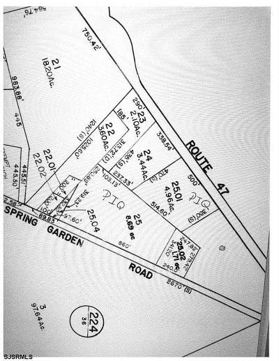 Millville Residential Lots & Land For Sale: Rt47 & Spring Garden Roads
