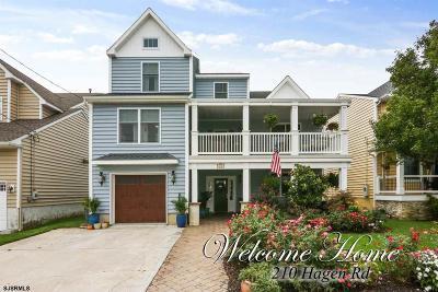 Brigantine Single Family Home For Sale: 210 Hagen Road
