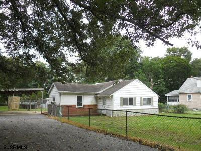 Millville NJ Single Family Home For Sale: $44,550